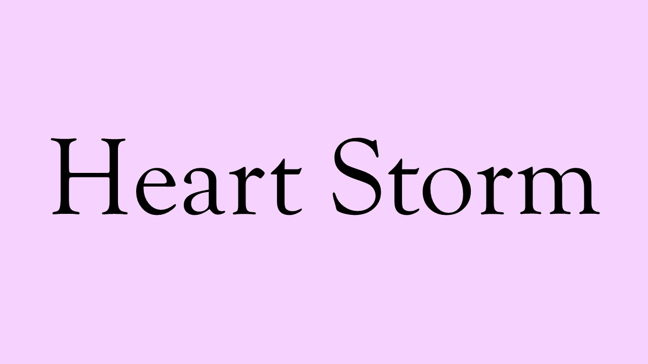 literature poetry free verse  heart storm