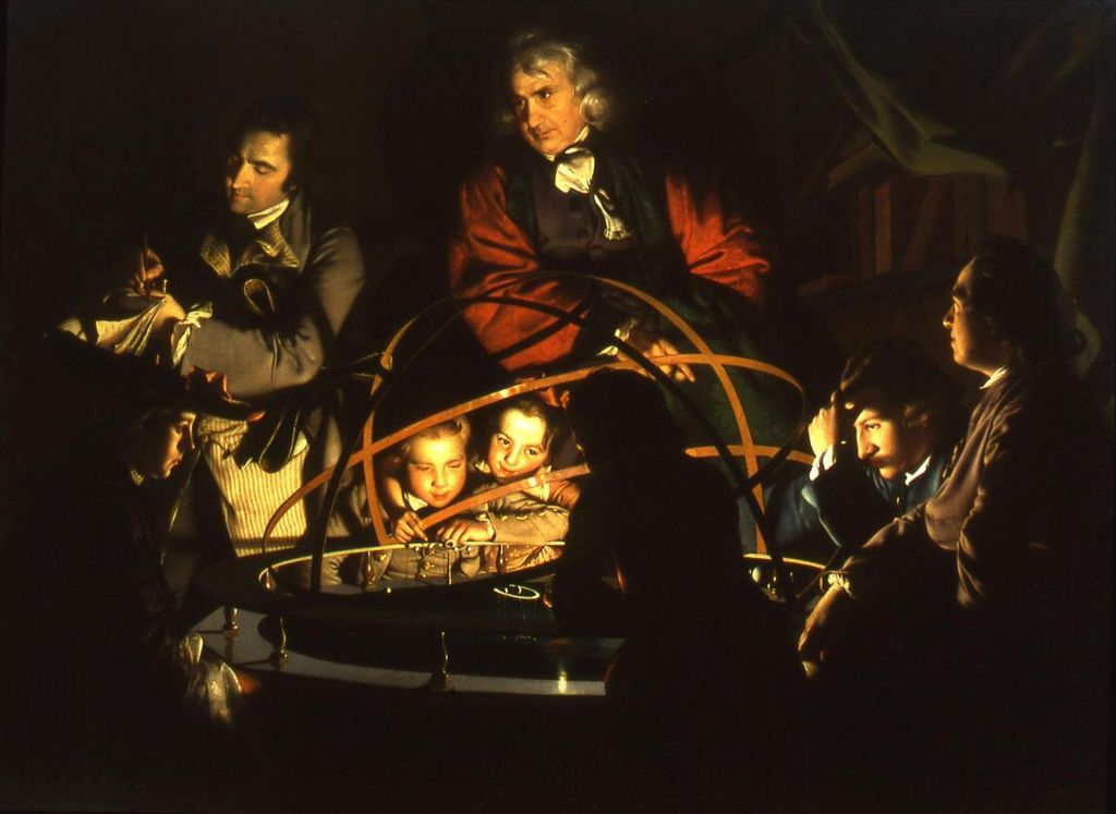 A-Philosopher-Lecturing-on-the-Orrery-by-Joseph-Wright-of-Derby-done