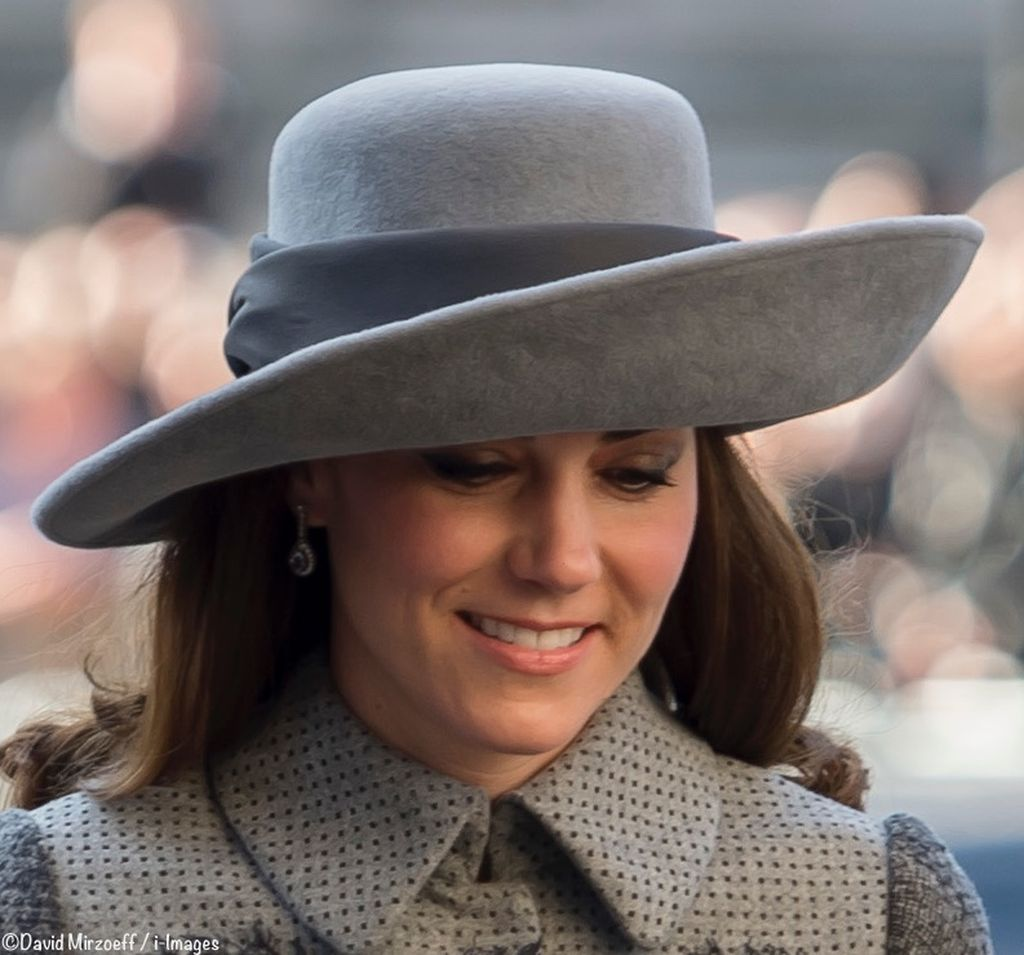 Kate-Commonwealth-Day-March-14-2016-Grey-Gray-John-Boyd-Hat-Head-Shot-Aqua-Diamond-Drop-Earrings-740-x-700-David-Mirzoeff-i-Im-ages–done