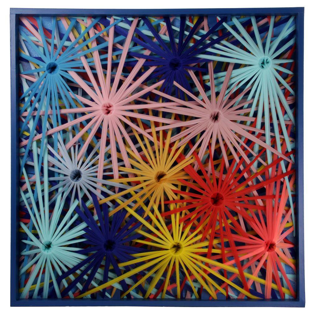 Emilio Cavallini, FRACTAL N. 1, 2018, cotton threads, wood, 40x40x5 inches-done