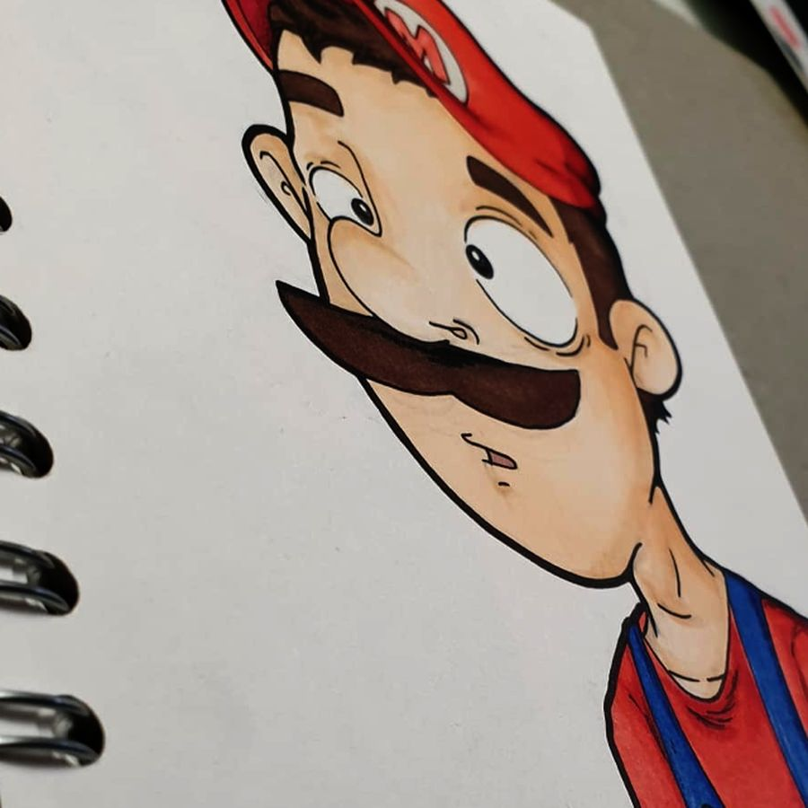 art  cartoons characters conceptart design mario sketch sketchartist smile supermario