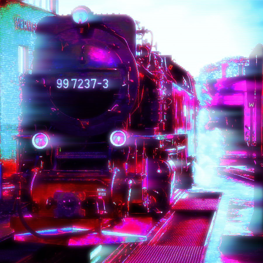 retrowave steam engine