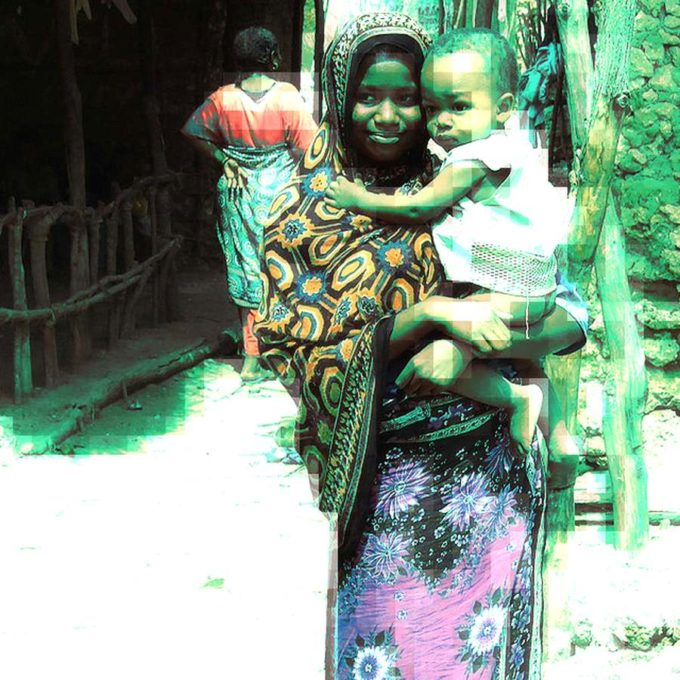 East Africa Kanga Woman