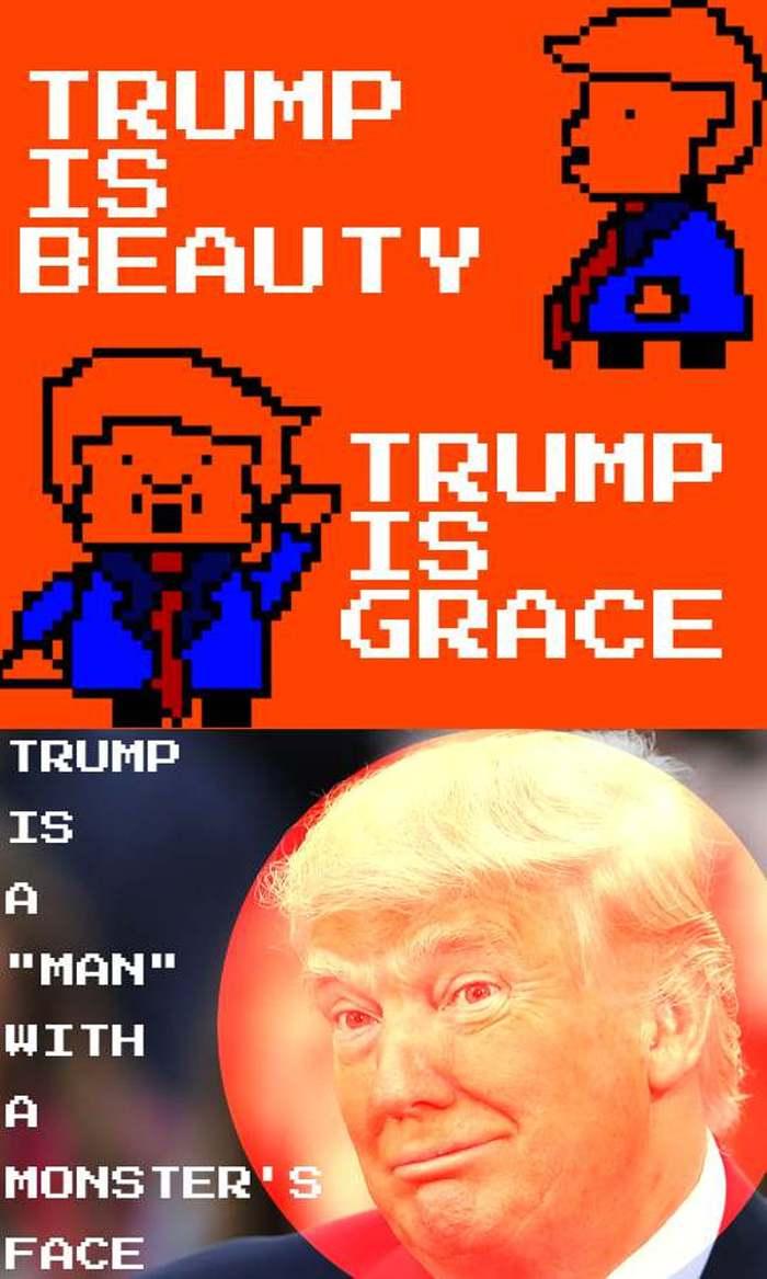 trump is a monster meme