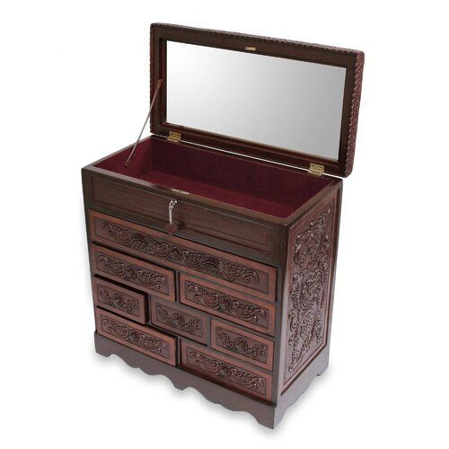 floral delight leather jewelry box